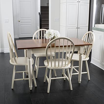 Great Deal Furniture Gates 5 Piece Spindle Wood Dining Set With Leaf  Extension