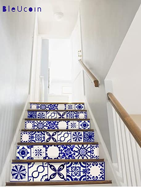 UClassic Mexican Talavera Tile Stickers For Kitchen And Bathroom Backsplash,  Stair Riser Stickers Peel U0026 Stick Home Decor (15cm X 15cm (Pack Of 44)): ...
