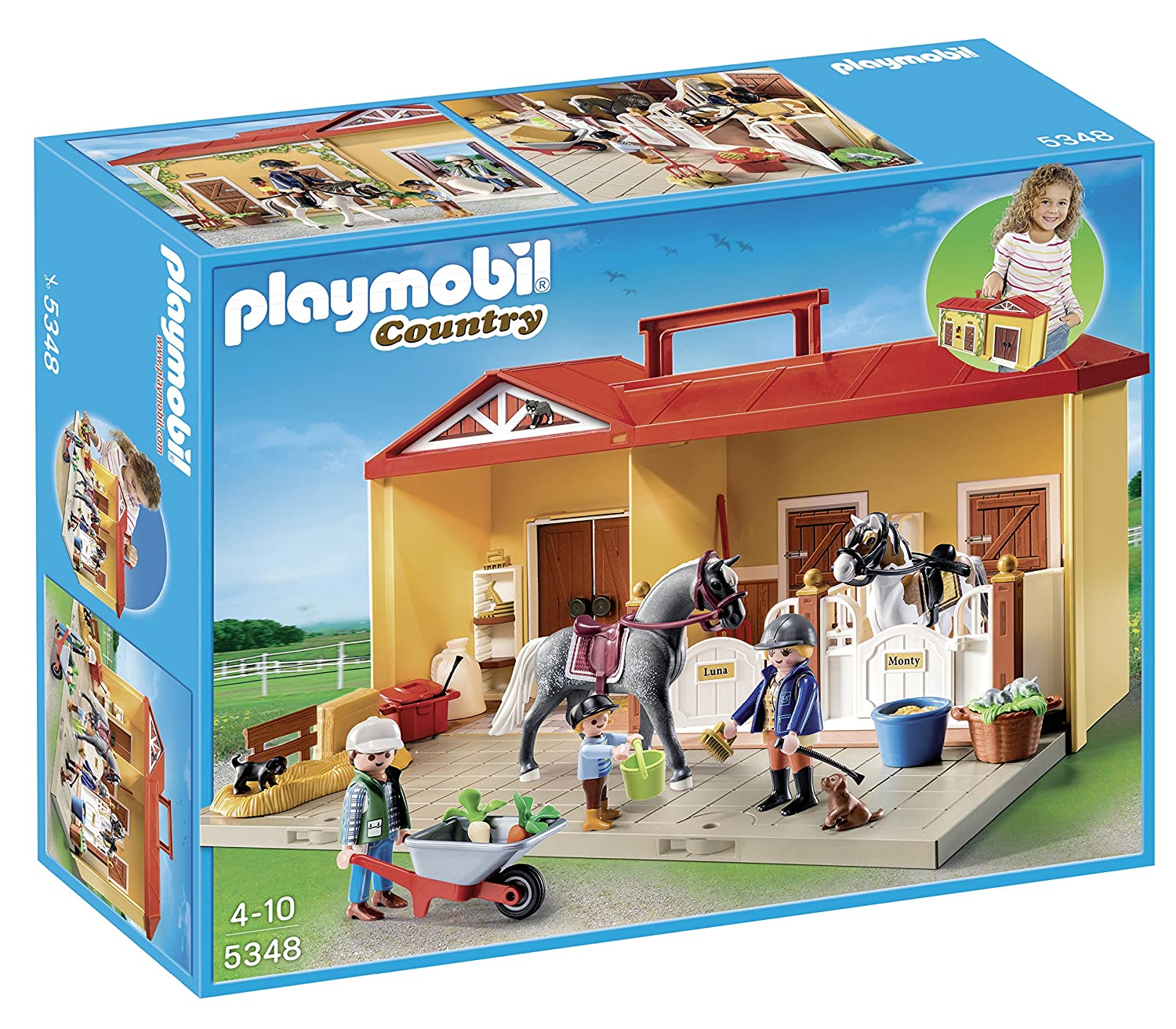 Playmobil 5348 country pony farm take along horse stable - Toutes les maisons playmobil ...