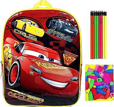 Trendy Disney Pixar Cars Lightning McQueen Cruz Jackson Storm Speed Buddies Mochila de 15 pulgadas con