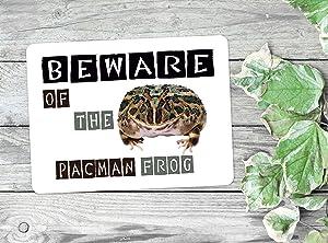 Flowershave357 Pacman Frog Metal Sign Wall Decor Plaque Aluminum Sign Metal Sign