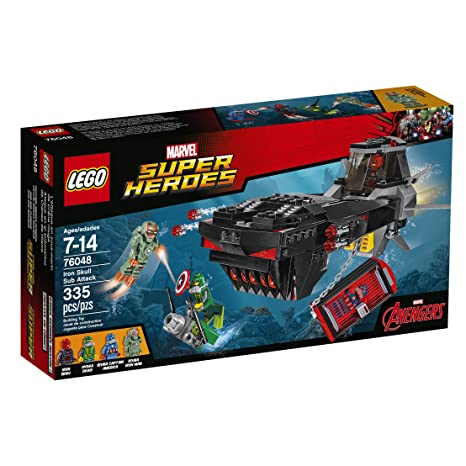 Amazon.com: LEGO Super Heroes Iron Skull Sub Attack 76048: Toys & Games