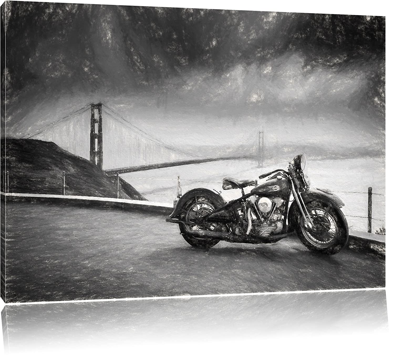Amazon.de: Triumph Motorrad Bild auf Leinwand, XXL riesige Bilder ...