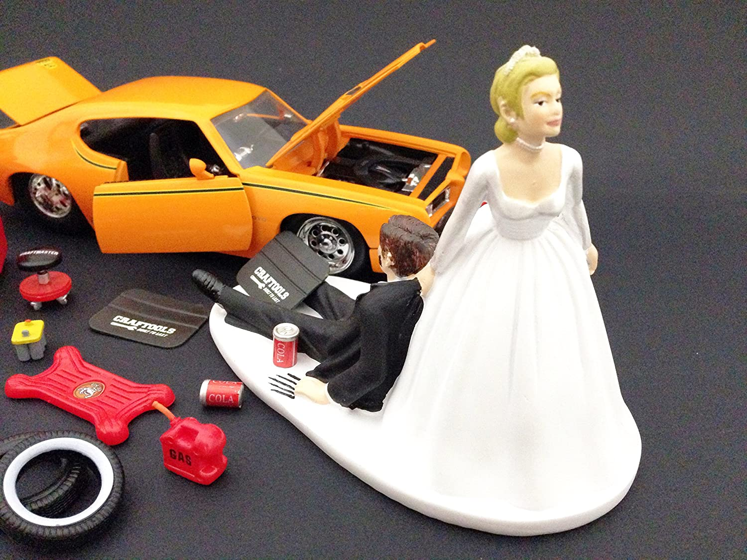 Amazon Funny Auto Mechanic Car Loving Groom Being Dragged By