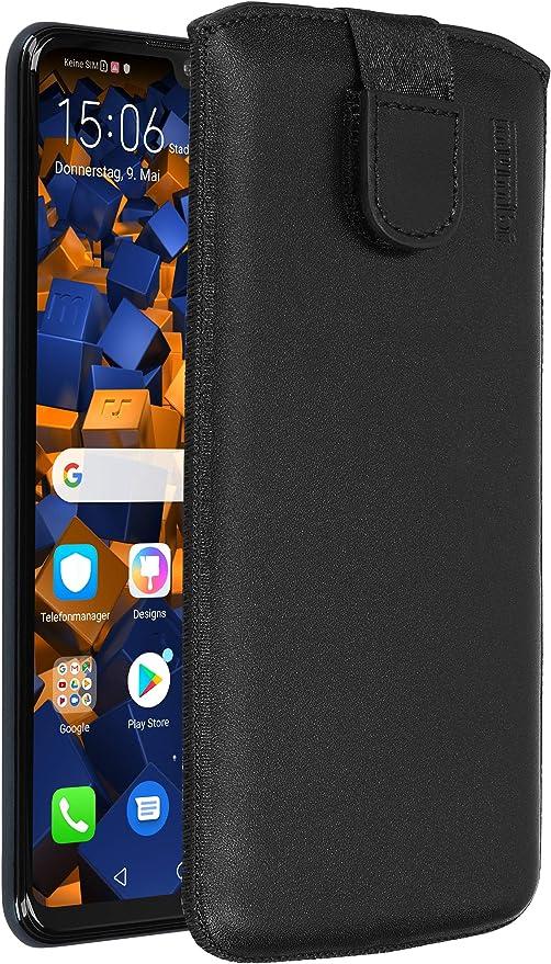 Mumbi Echt Ledertasche Kompatibel Mit Huawei P30 Lite Hülle Leder Tasche Case Wallet Schwarz Elektronik
