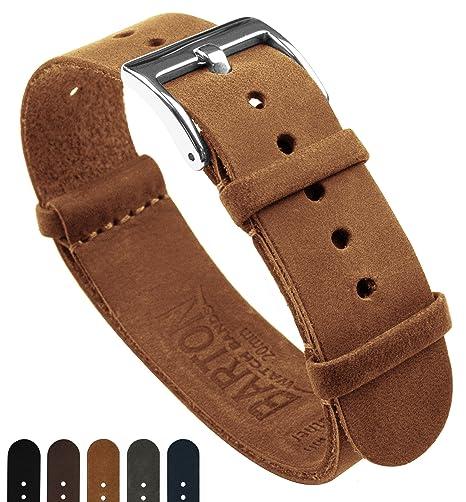 e29b558e570 Barton Leather NATO Style Watch Straps - Choose Color