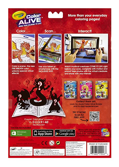 amazoncom crayola color alive action coloring pages combo set skylanders and mythical creatures toys games - Crayola Color Alive Special Pages