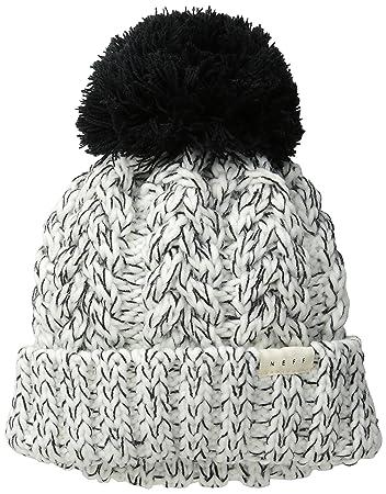 Neff Women s Kaycee Beanie Hat - Black White 1830ceec708