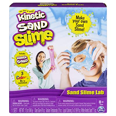 SpinMaster Kinetic Sand Slime Lab: Toys & Games