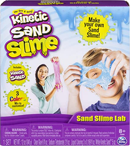 Kinetic Sand Sand Slime Lab, All-in-One Kit for Ages 8 & Up