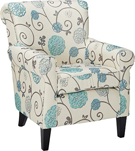 Christopher Knight Home Roseville Blue Floral Accent Lounge Chair