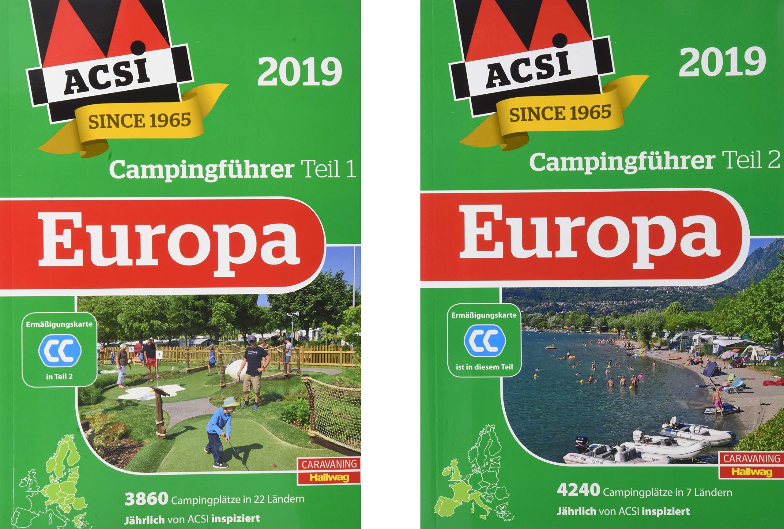 Acsi Karte.Acsi Internationaler Campingfuhrer Europa 2019 In 2 Banden