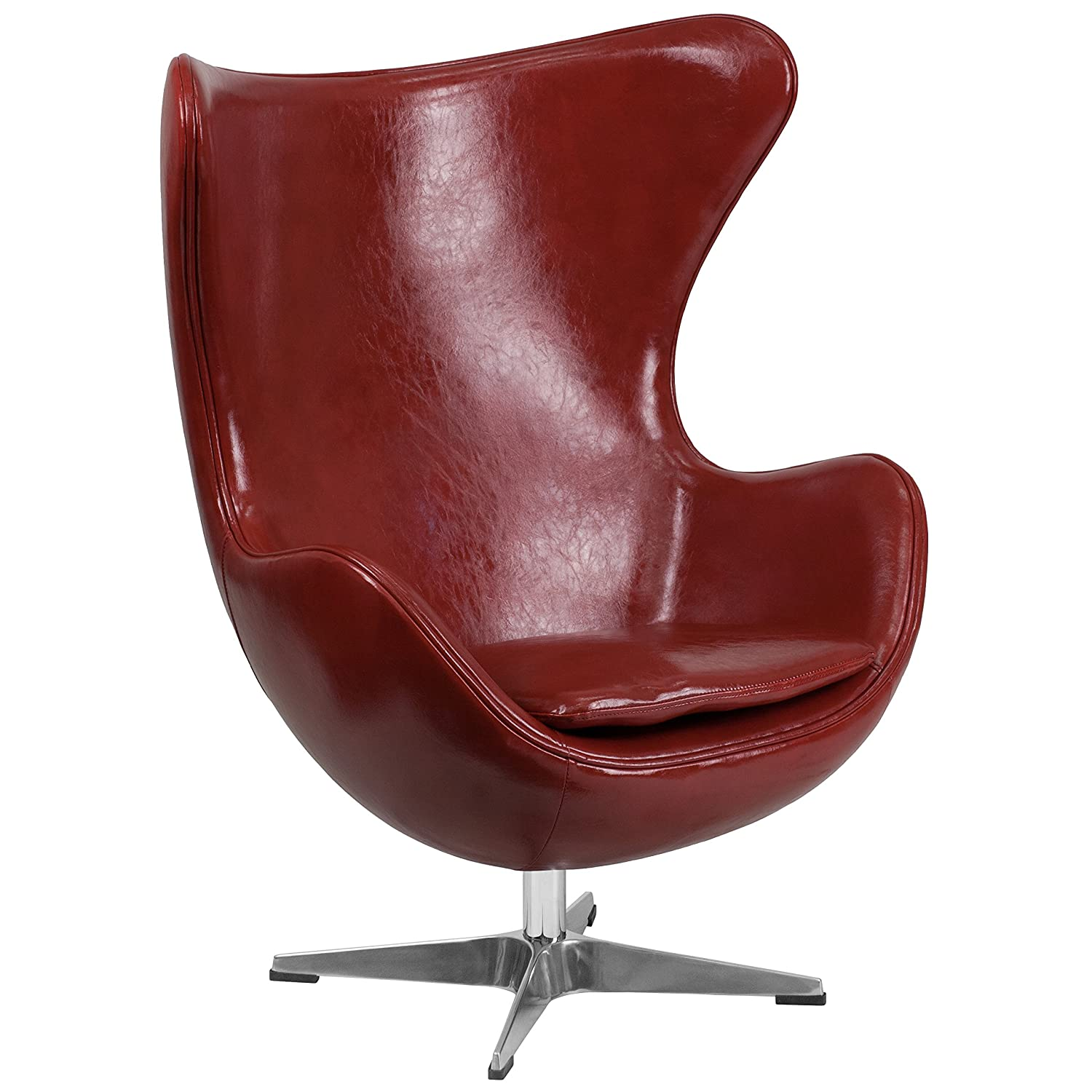 Amazon.com: Flash Furniture Cordovan Leather Egg Chair With Tilt Lock  Mechanism: Kitchen U0026 Dining