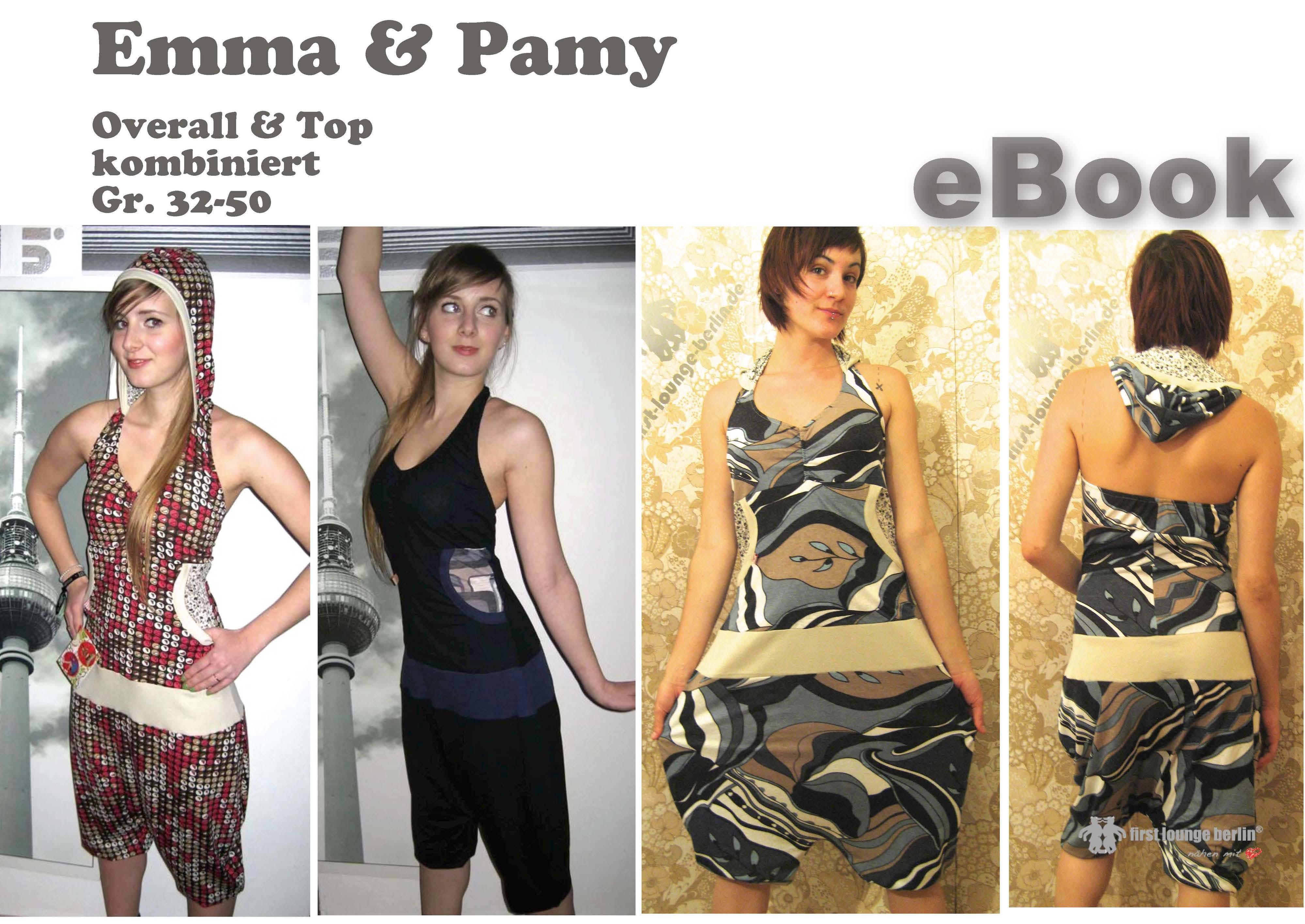 Emma & Pamy Nähanleitung mit Schnittmuster für Jersey-Overall und ...