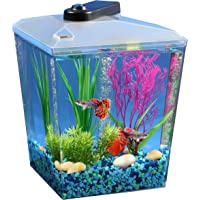 Koller Products AquaScene 1-Gallon Fish Tank with LED Lighting and Natural Biological Filtration