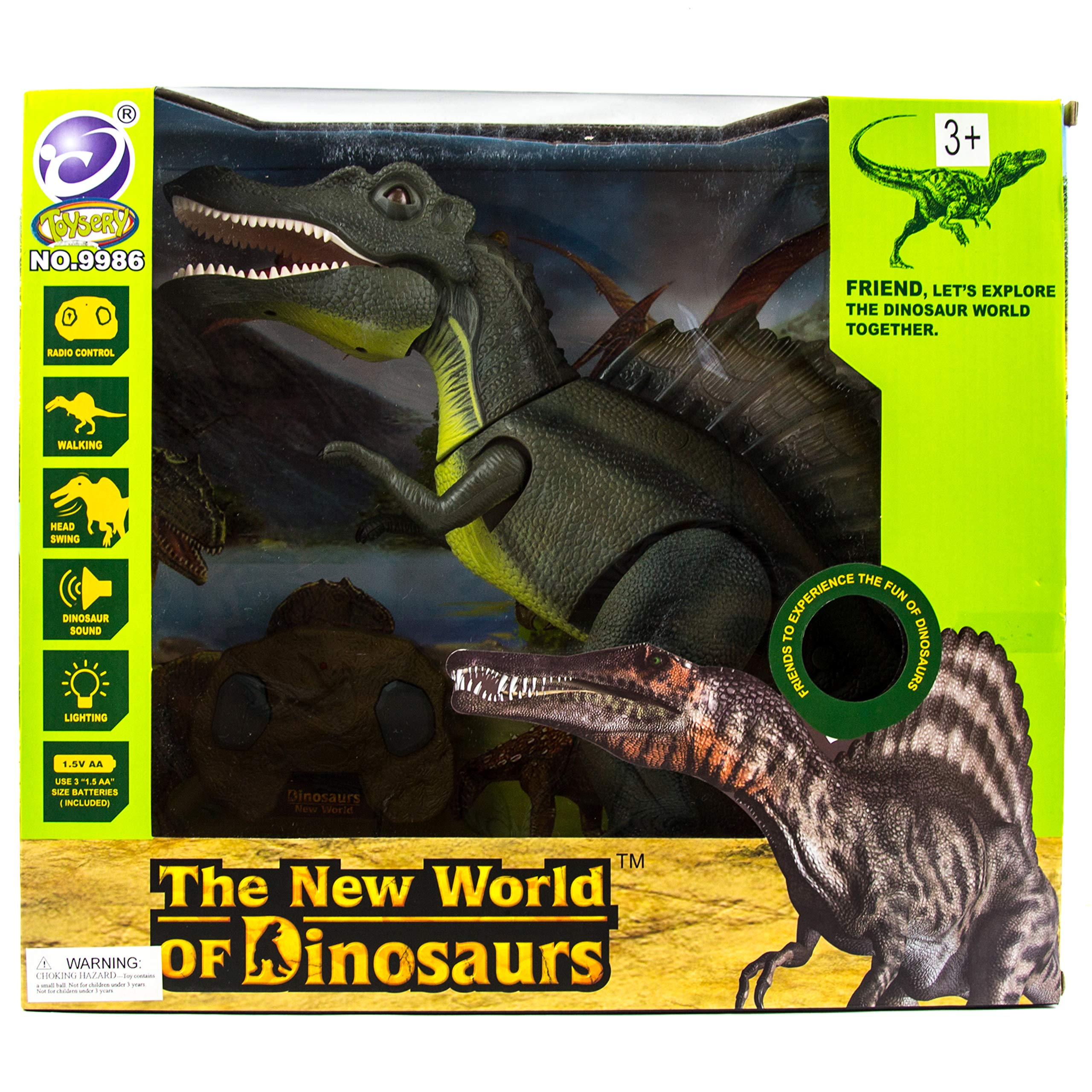 Toysery Remote Control Dinosaur Toy for Kids | RC Walking Realistic Dinosaur | Toy Roars, Lights & Sounds | Fast Forward Function | Ultimate Fun for Kids by Toysery (Image #6)