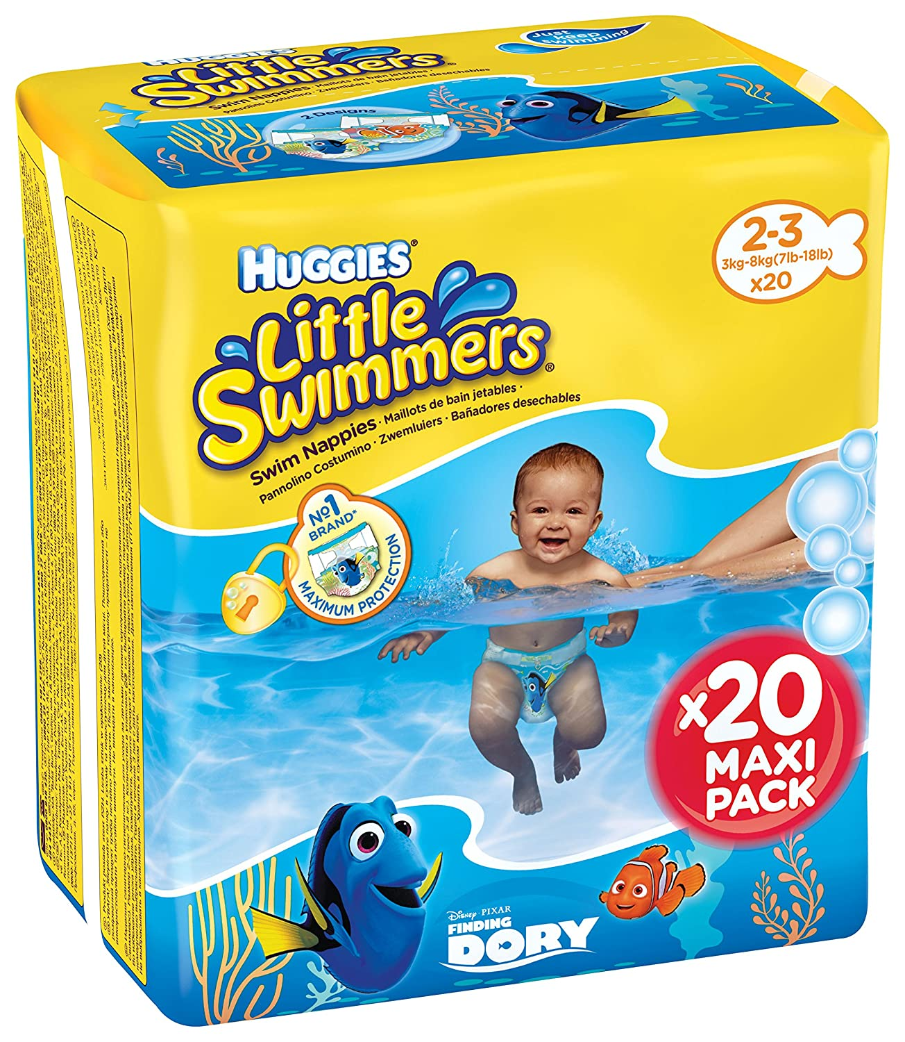 Little Swimmers Double Pack Size 2/3(3–8kg), Pack of 20 Kimberly-Clark 5029053537818