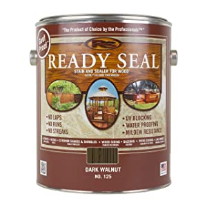 Ready Seal 125 1-Gallon Can Dark Walnut Exterior Wood Stain and Sealer