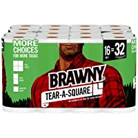 Deals on 16-Pack Brawny Tear-A-Square Paper Towels Rolls