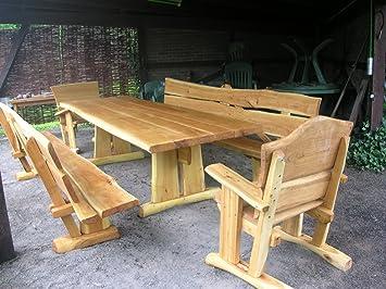 Amazonde Kjr Holzmanufaktur Rustikale Gartenmöbel Sitzgruppe