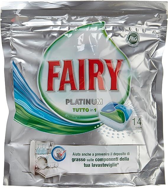 Fairy - Platinum Todo en 1 - Cápsulas para lavavajillas - 14 ...