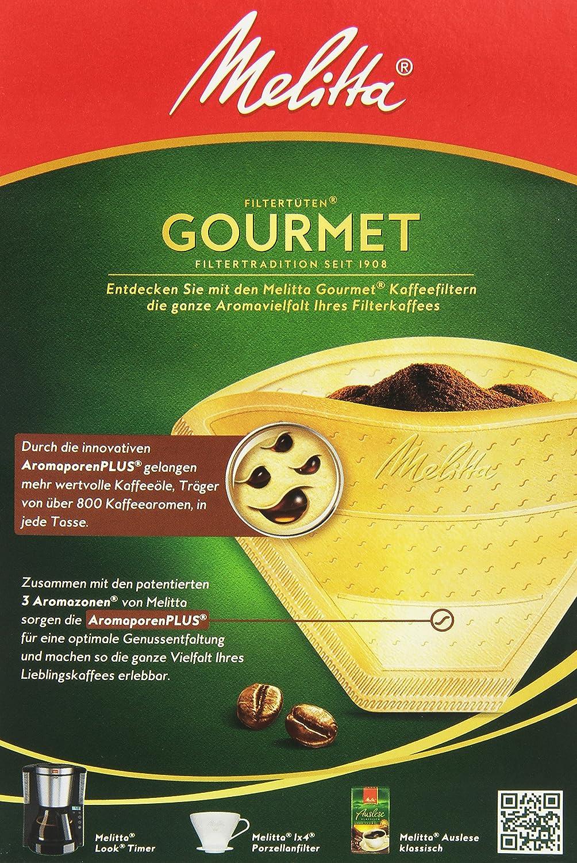 Melitta Gourmet Filtert/üten 1x4 AromaporenPlus Naturbraun 80 St/ück