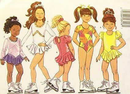 Butterick 5782 Girls Leotard Figure Skating Dress Ponytail Holder