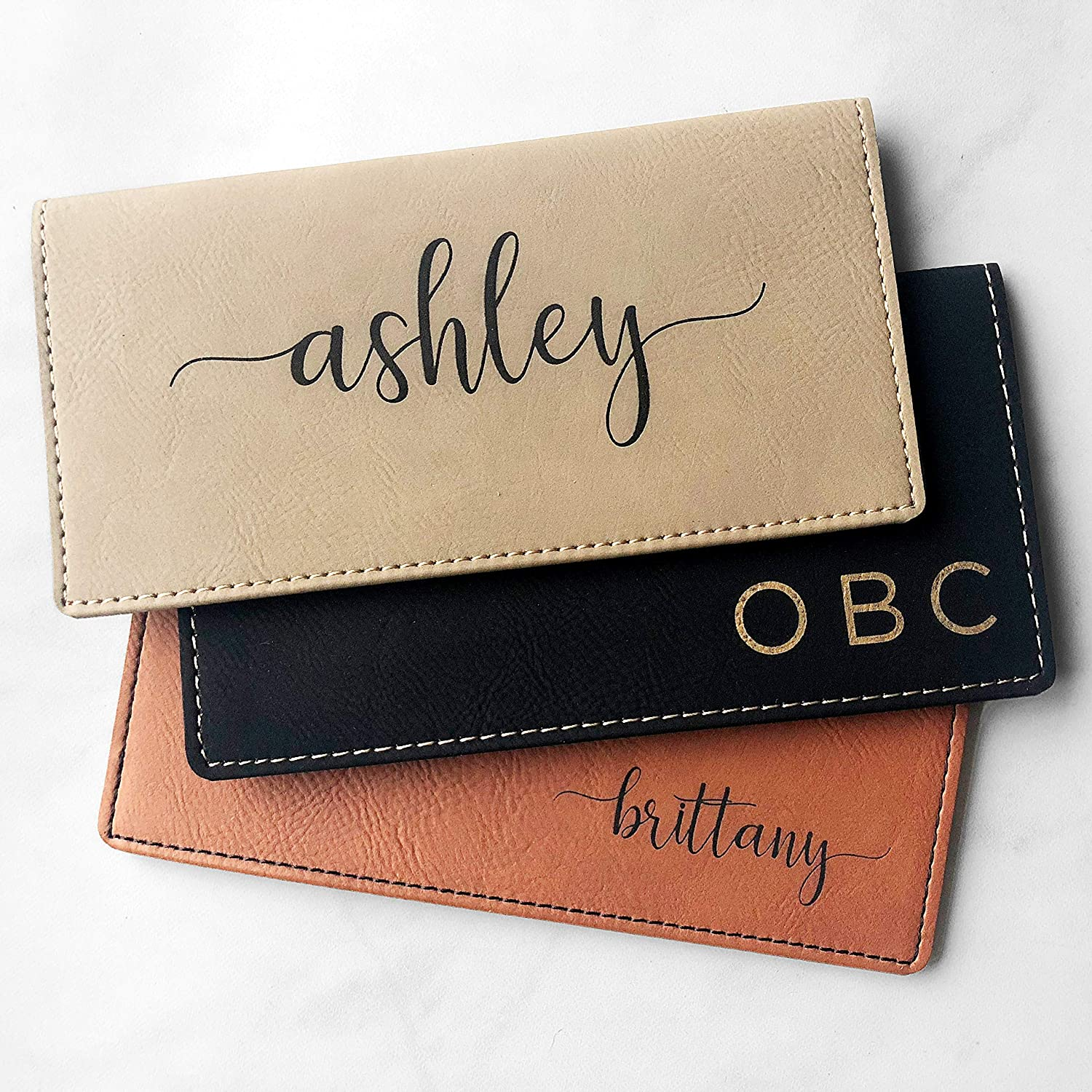Personalized Custom Hearts Love Checkbook Cover CCard Holder Wallet 2 Designs