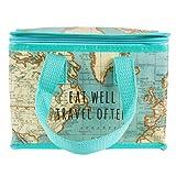 Sass & Belle Vintage Map Lunch Bag