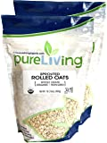 Pure Living - Organic Sprouted Rolled Oats, 2 Packs - 16 Ounce each