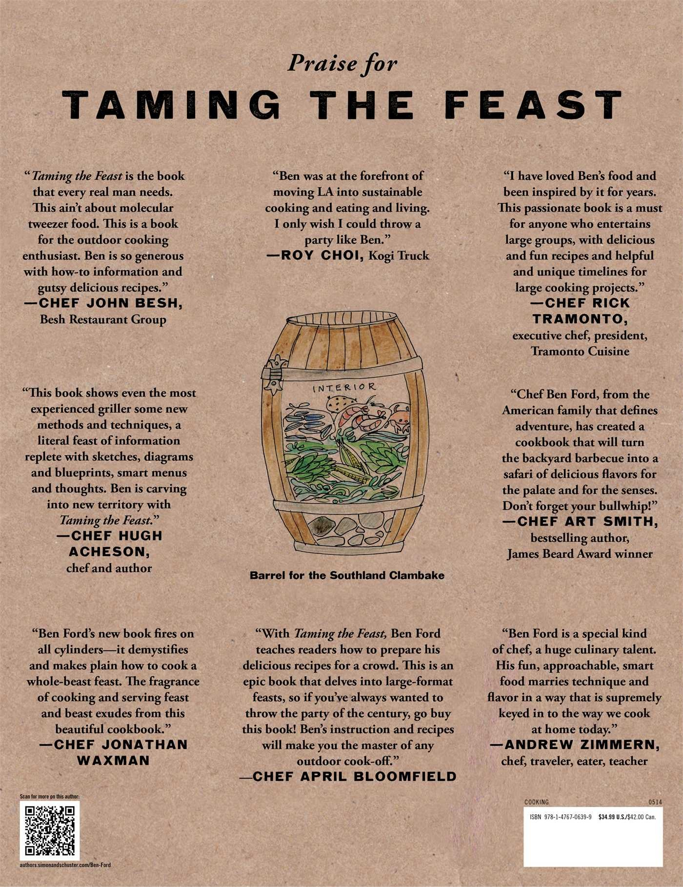 Taming The Feast: Ben Ford's Field Guide To Adventurous Cooking: Ben Ford,  Carolynn Carre�o: 9781476706399: Amazon: Books