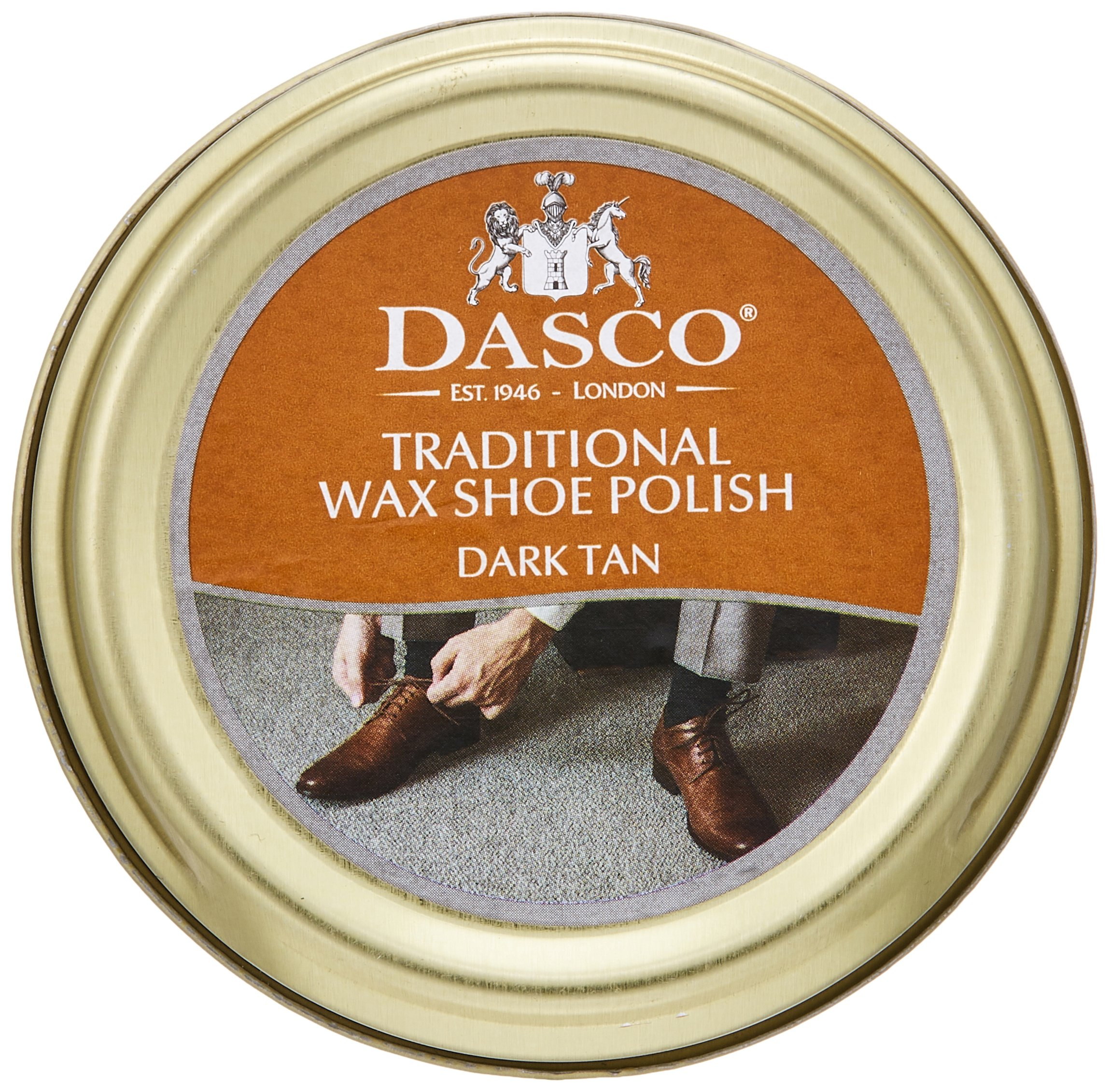 Dasco Traditional Wax Shoe Polish, 50ml tin (Dark Tan)