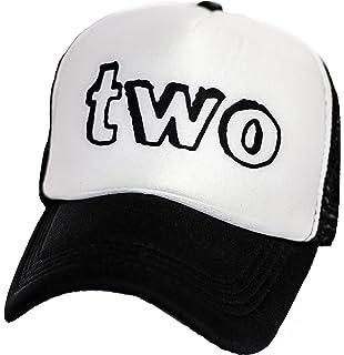 cc5e484b Kids Mesh 2nd B-Day Trucker Hat Baseball Cap Boys Girls Birthday Two Toddler
