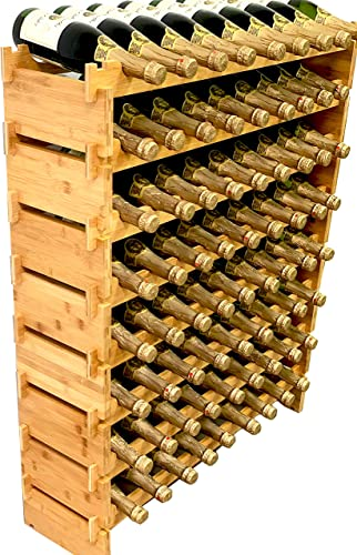 DECOMIL-72-Bottle-Stackable-Modular-Wine-Rack-Wine-Storage-Rack