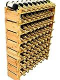 DECOMIL 72 Bottle Stackable Modular Wine Rack Wine Storage Rack Solid Bamboo Wine Holder Display Shelves, Wobble-Free (Eight-Tier, 72 Bottle Capacity)