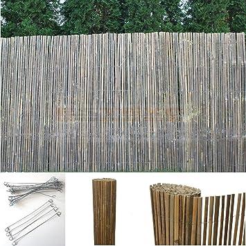 Amazon De Bambus Sichtschutzmatte Windschutz Bambusmatte
