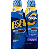 Coppertone Sport Spf 30 Continuous Spray Clear Twin Pack, 6-Ounce Cans