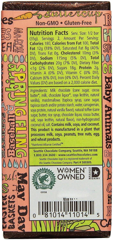 Amazon.com : Seattle Chocolates Bar, Perfect Peanut Butter, 2.5 ...
