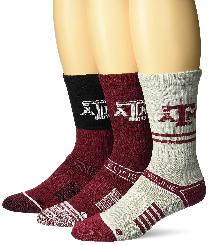 Strideline NCAA Mens Crew Socks 3 Pack