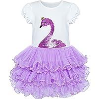 Sunny Fashion Vestido para niña Rosa Tutu Bailando