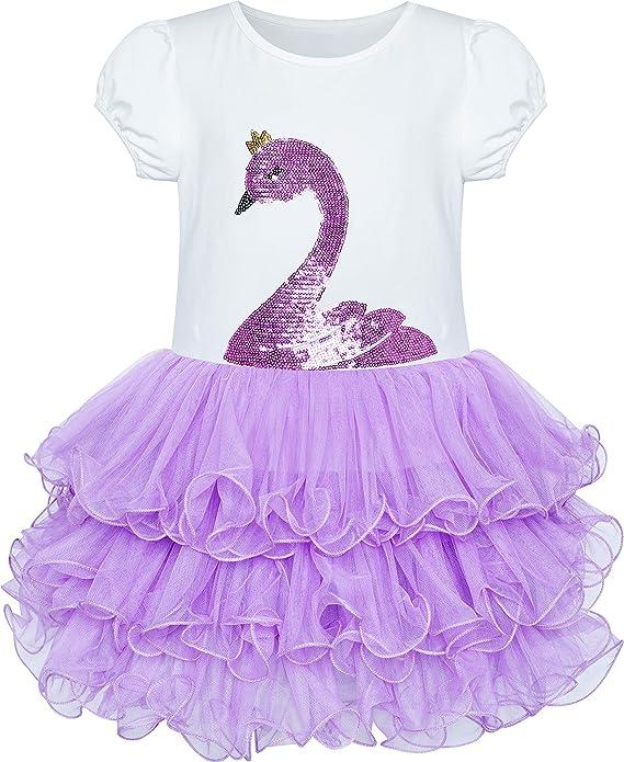 Sunny Fashion Vestido para niña Rosa Tutu Bailando Escalonado ...