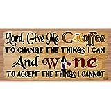 GiggleSticks Coffee & Wine Sign - Coffee & Wine Plaque