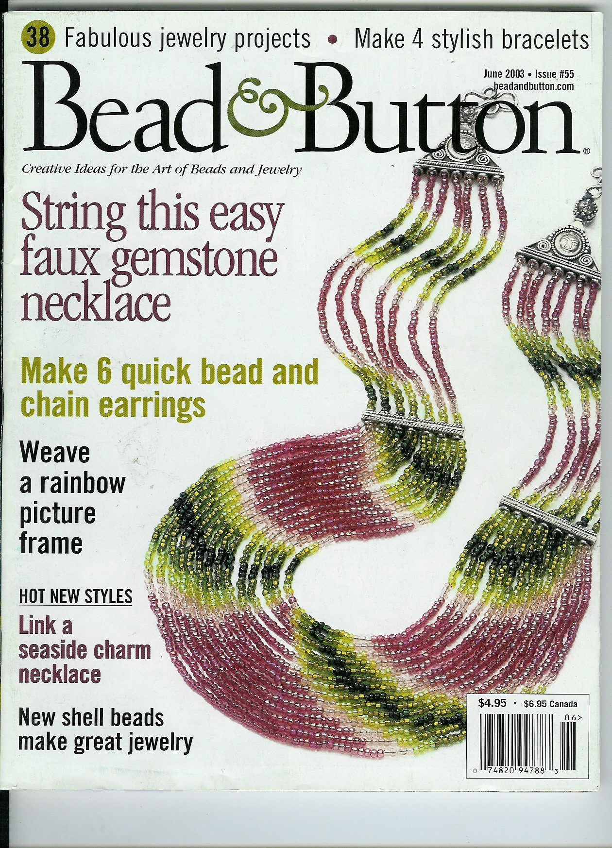 Bead & Button Magazine June 2003 Issue #55 pdf epub