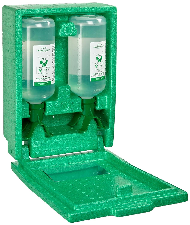 PLUM DUO Open Eye Wash Station; 1 Bottle, 1000ml Sterile Saline (F24880-8010) Bel-Art 248808010
