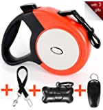Retractable Dog Leash, EC.TEAK 16.5ft Dog Walking Leash for Medium Large Dogs up to 110lbs, One Button Break & Lock , Heavy Duty No Tangle. Dog Waste Bags Included. With 3 Gifts. Large