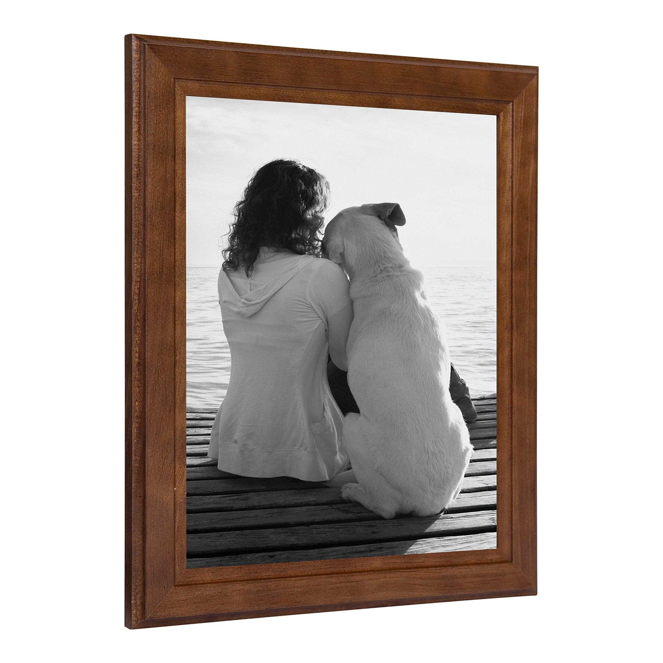 DesignOvation Kieva Solid Wood Picture Frames, Espresso Brown 8x10, Pack of 6 by DesignOvation (Image #3)