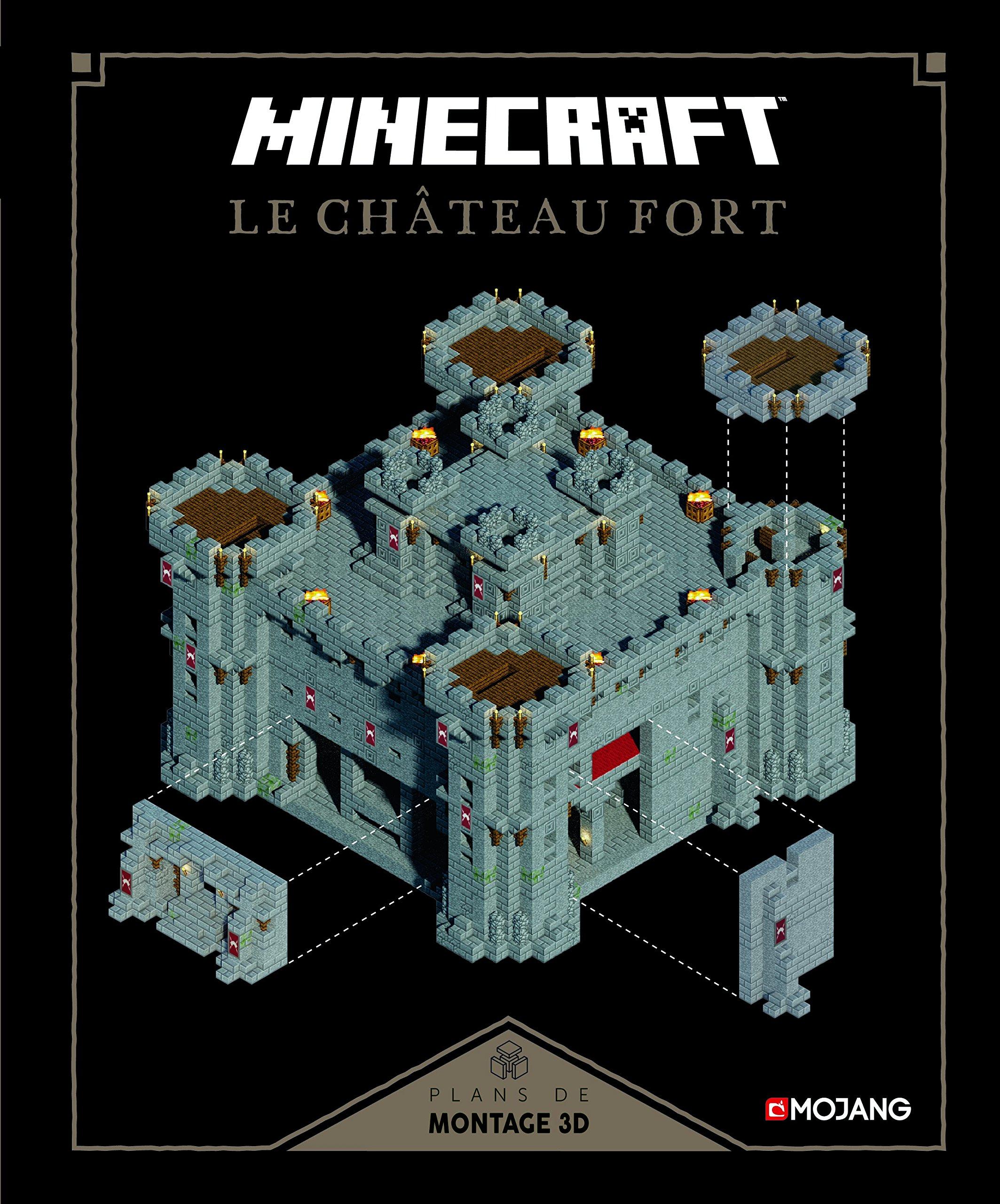 Amazon Fr Minecraft Le Château Fort Plans De Montage 3d
