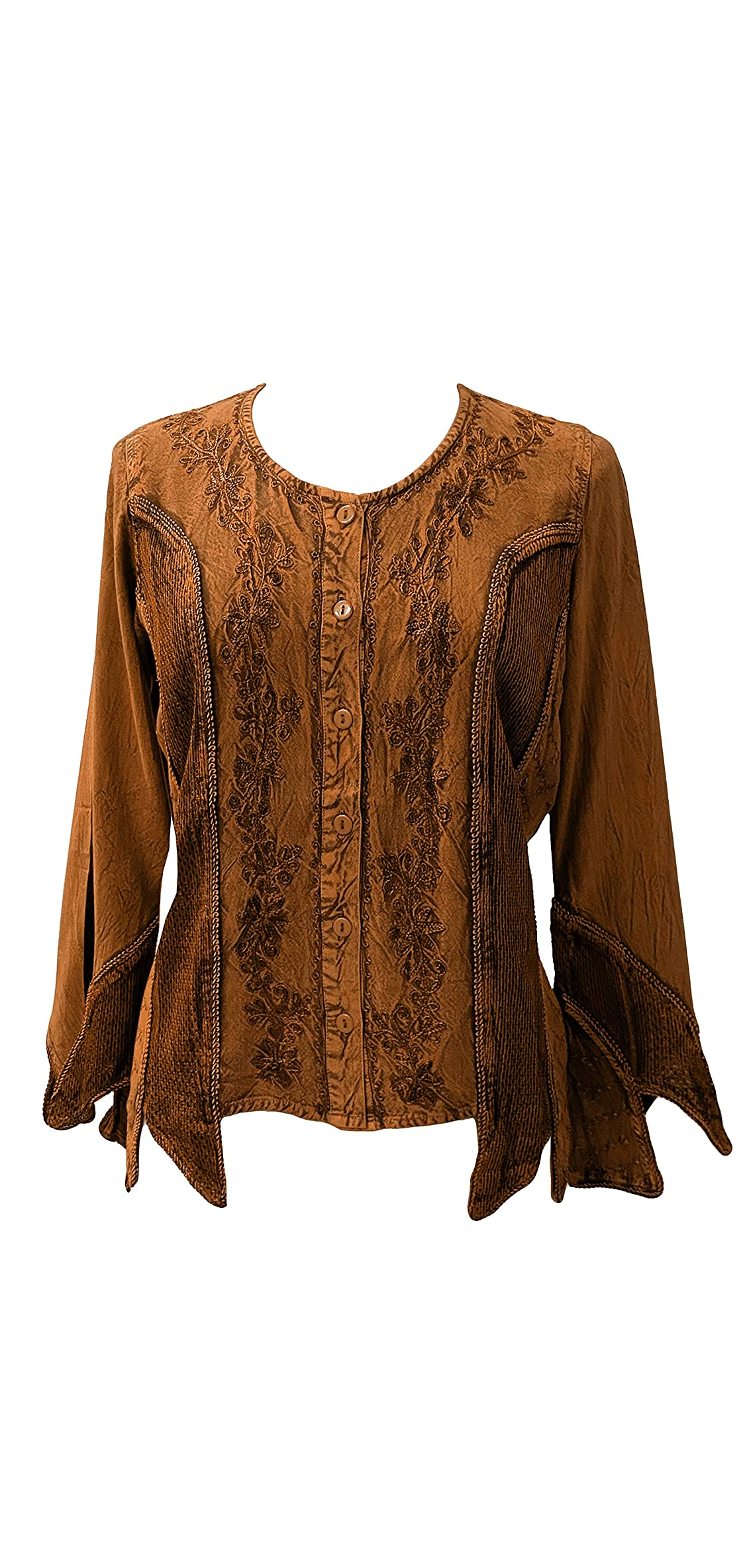 Women's Gypsy Bohemian Button Down Long Sleeve Top