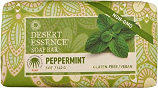 product image for Desert Essence Peppermint Soap Bar - 5 Ounce - Cleanse & Soothes Skin - Tea Tree Oil - Aloe Vera - Jojoba Oil - Refreshing Rich Scent - Acne - Invigorating Moisturizer
