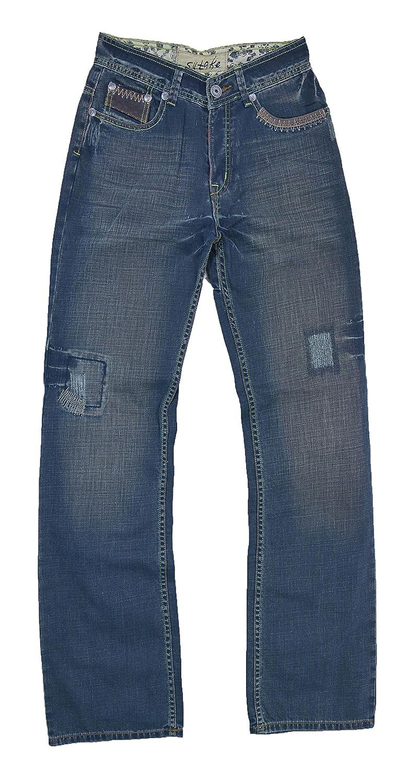 #M1311-MJN043 Men's Relax Straight Leg Stylish Wash Premium Jeans Size: 30 x 33